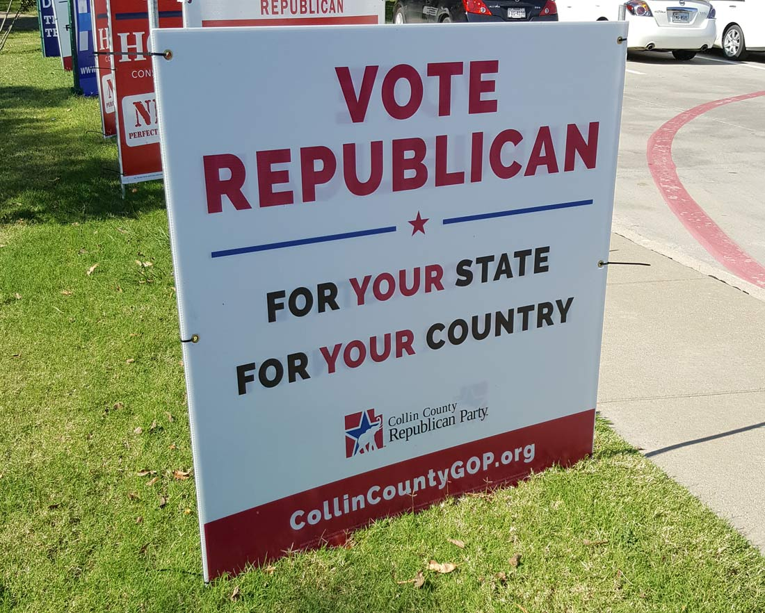 Vote Republican Collin County | Bingham Design