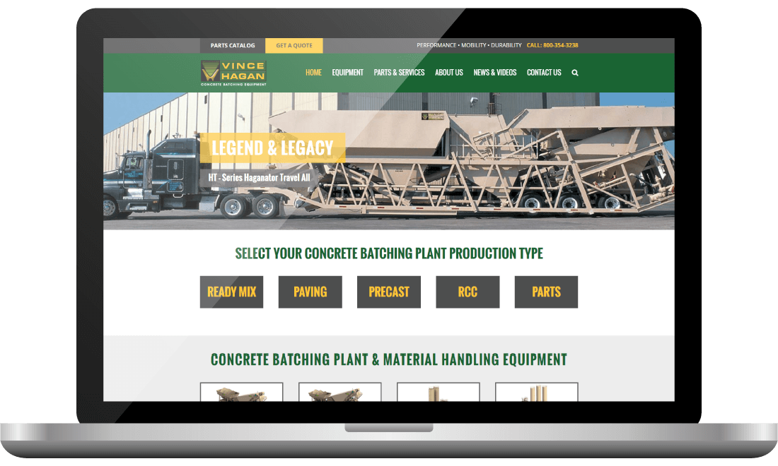 Concrete Batching Plant Website Design - Atomic Design & Consulting | Chris Bingham - Digital Marketing - Bingham Design