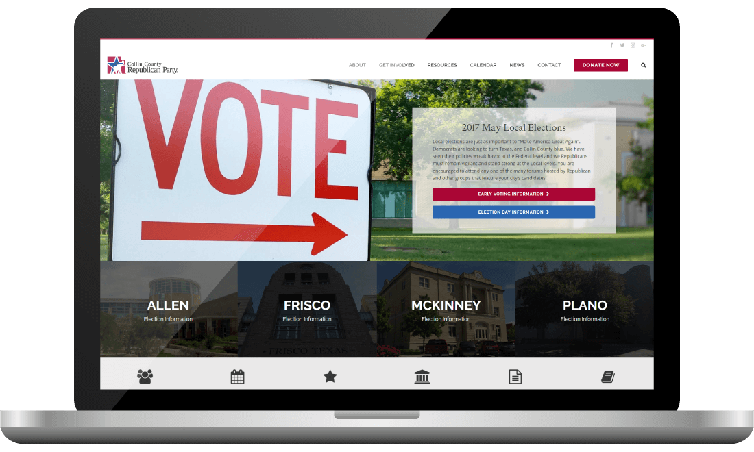 County Republican Website Design | Bingham Design | conservative Republican Graphic Designer & Digital Marketer