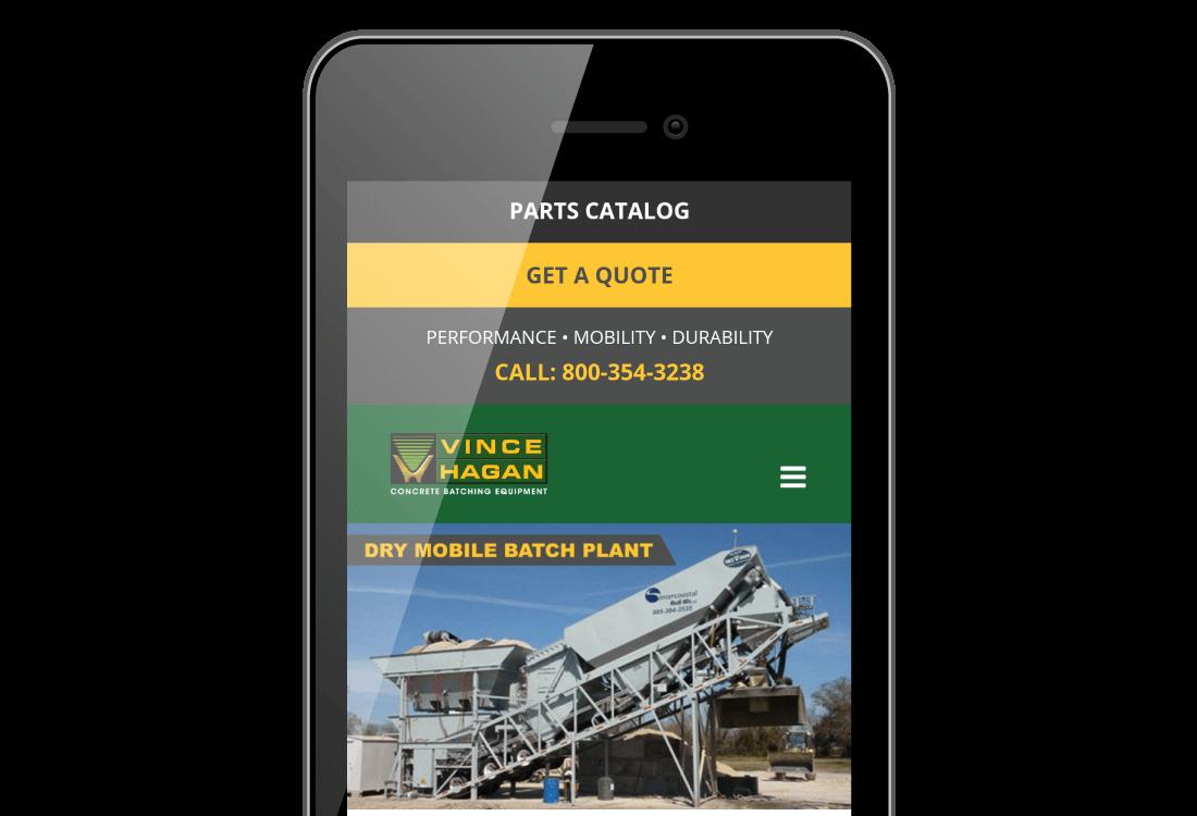 Mobile Friendly Concrete Batching Plant Website Design - Atomic Design & Consulting | Chris Bingham - Digital Marketing - Bingham Design