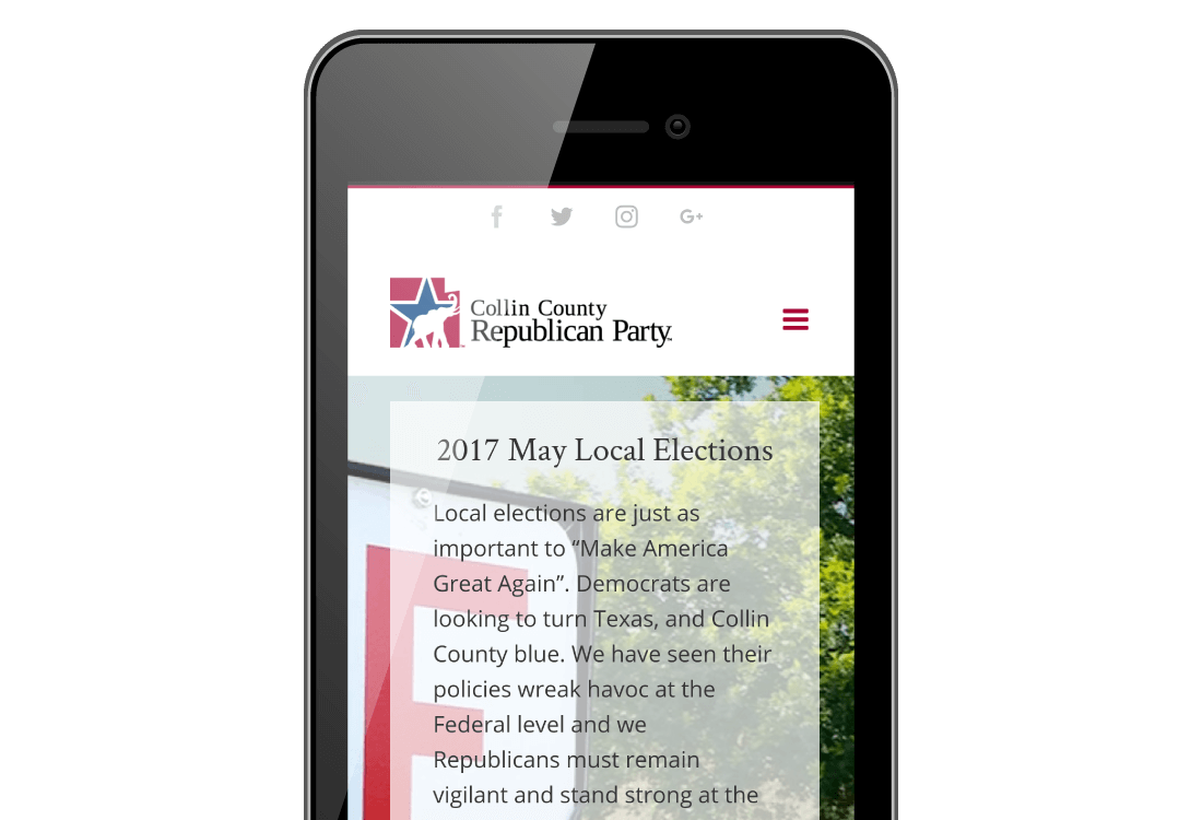 Mobile Friendly County Republican Website Design | Bingham Design | conservative Republican Graphic Designer & Digital Marketer