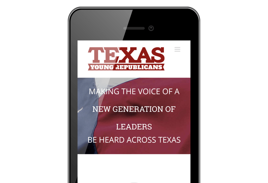 Mobile Friendly Young Republican Website Design | Bingham Design | conservative Republican Graphic Designer & Digital Marketer