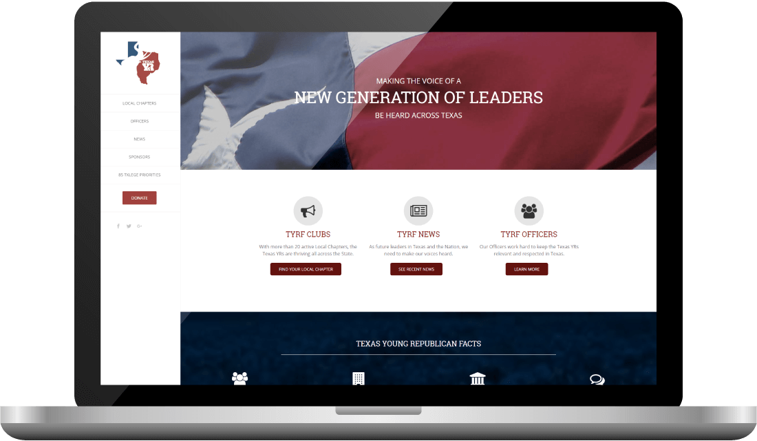 Young Republican Website Design | Bingham Design | conservative Republican Graphic Designer & Digital Marketer