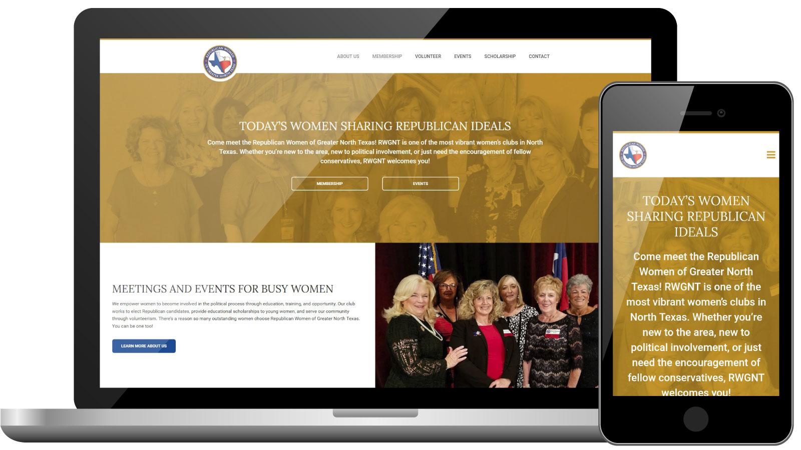 Republican Women's Group Website Design & Development